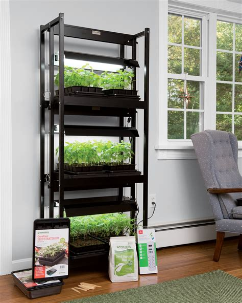 led sunlite compact  tier garden starter kit gardenerscom