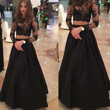 49%off black a line long sleeves zipper prom dresses 2018