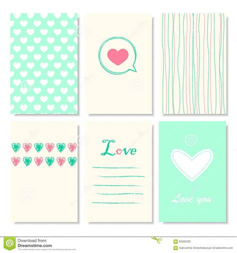 cute creative cards templates stock illustration image