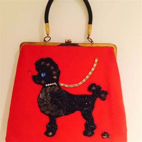 Is It A Bag Is It A Purse Its Topshops Raffia Crossbody Handbag by Vintage Host Vintage Poodle Bag