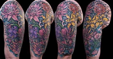 quarter sleeve daisy tattoo empire tattoo