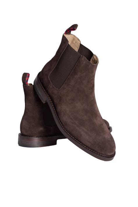ralph boots ralph chelsea suede boots in brown newent