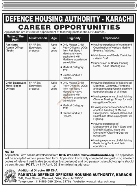 housing authority jobs defence housing authority jobs dawn jobs ads 03 april 2016 paperpk