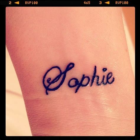 tattoo of us lauren sophie love my wrist tattoo it s my daughter sophie s name