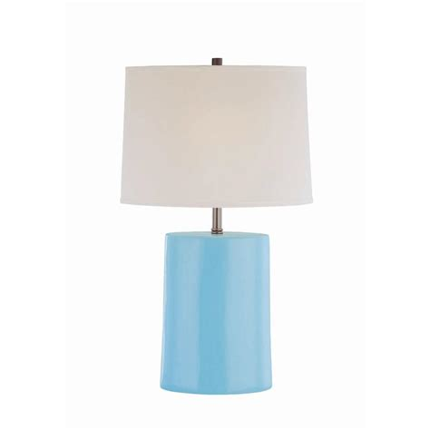 night table ls home depot illumine 25 in blue table l light cli ls442998 the