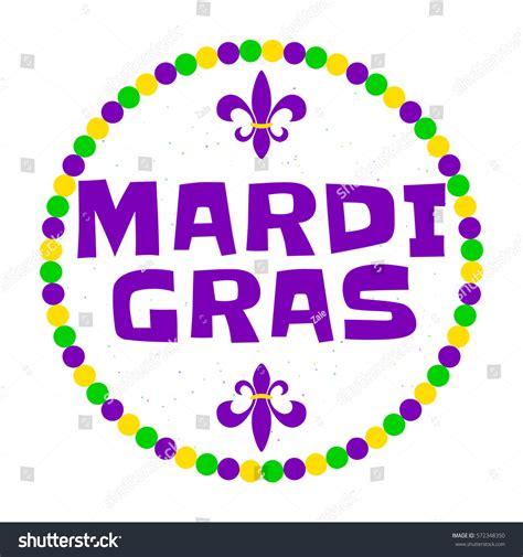 mardi gras card template vector illustration mardi gras background typography stock