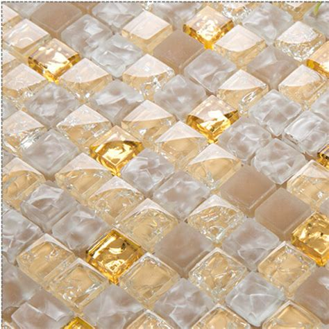 Ceramic Wall Tile Murals yellow crystal glass tiles for kitchen and bathroom wall