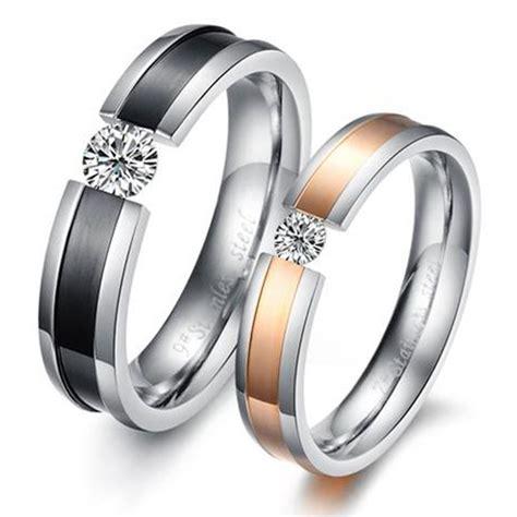 free black gold endless promise ring lover