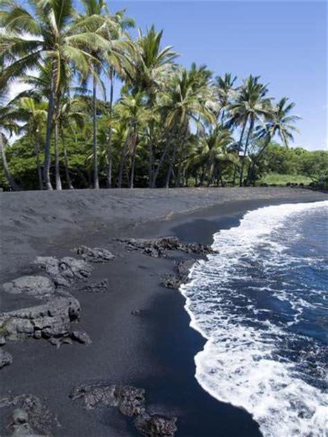 black sand island punaluu black sand beach island of hawaii big island
