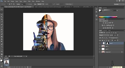 photoshop cs3 vector mask tutorial photoshop tutorial how to make a double exposure image