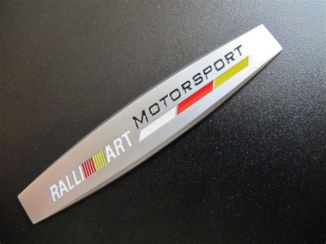 Emblem Tempel Ralliart Aluminium sell ralliart metal trunk fender logo emblem badge for mitsubishi lancer evo galant motorcycle