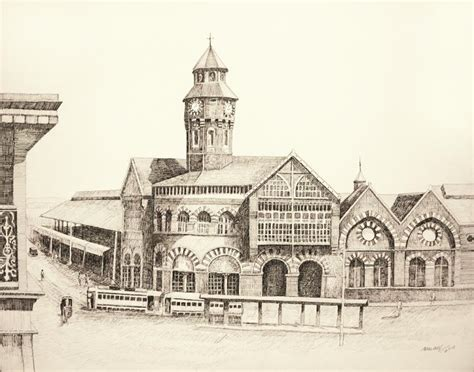 Decorative Crafts For Home Crawford Market By Artist Aman A Ink Drawings On Canvas