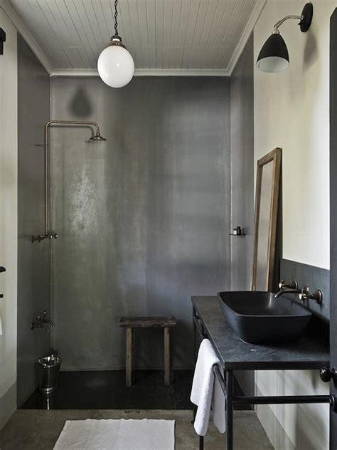 bathroom industrial tadelakt shower modern bathroom the satyagraha house