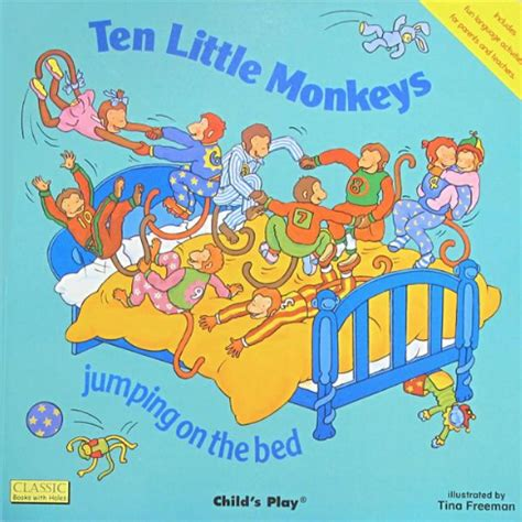 4 little monkeys jumping on the bed best interactive baby books