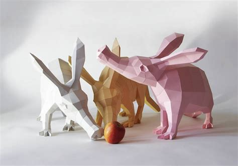 Animal Papercraft - papercraft animals series fubiz media