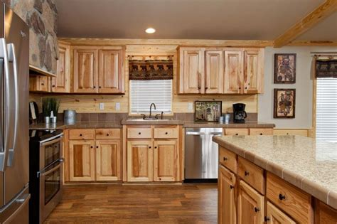 hickory kitchen cabinet hardware the beachwood kitchen pine mountain accents hickory
