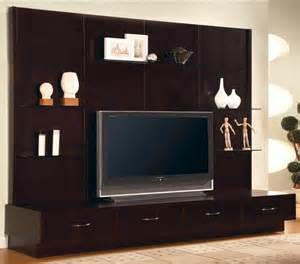 Coaster Bedroom Set modern flat panel tv wall mount unit stand cappuccino
