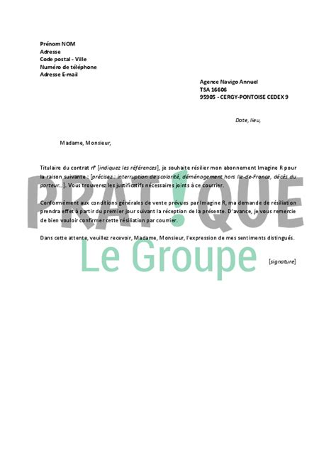 Modele De Lettre De R lettre de r 233 siliation imagine r pratique fr