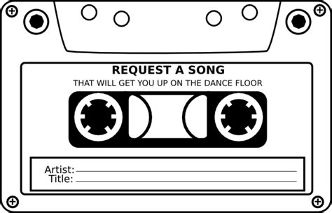 Song Request Card Template by Wedding Song Request Clip At Clker Vector Clip