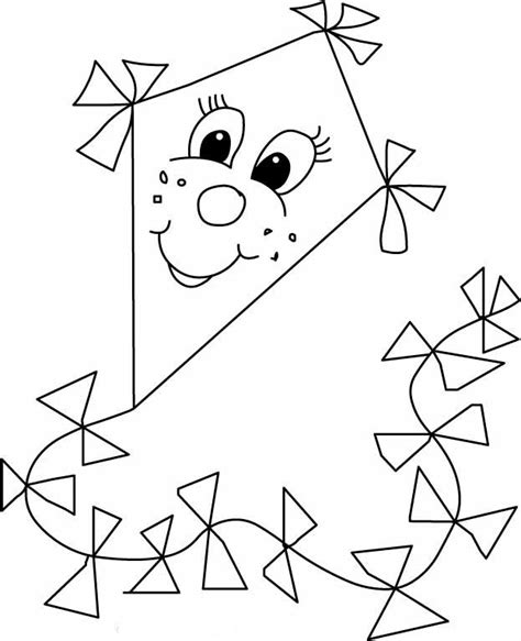 free printable coloring page of a kite 92 kite coloring pages for kindergarten kite