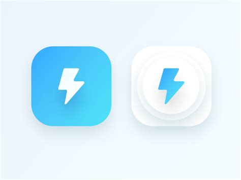 design icon for android app bolt app icon for an android application wip by prakhar