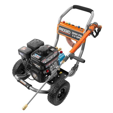 ridgid 3000 psi 2 6 gpm subaru engine gas pressure washer
