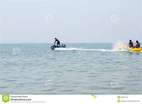 Banana Boat Blue banana boat in blue sea and clear sky editorial photography image 29997772