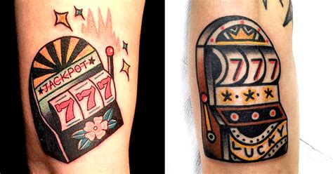 slot machine tattoo hit the jackpot with slot machine tattoos tattoodo