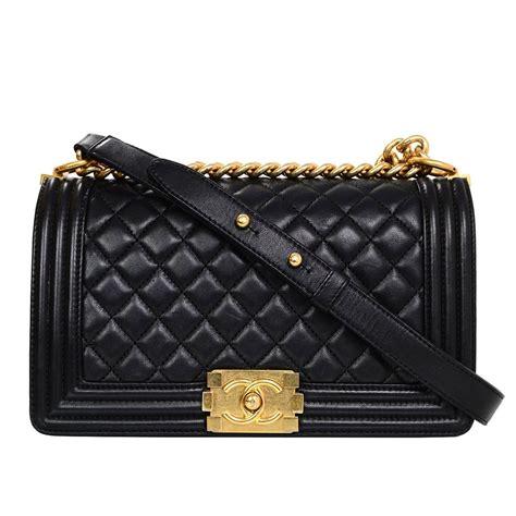 Chanel Boy Lambskin Include Box With Palladium Gold Hardware Premium chanel black lambskin medium boy bag at 1stdibs