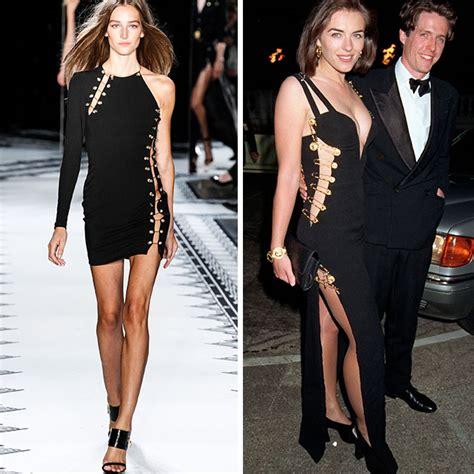 Buy Elizabeth Hurleys Safety Pin Versace Dress by Vestidos Versace Safety Pin Remete Nos Para A Ideia Diy