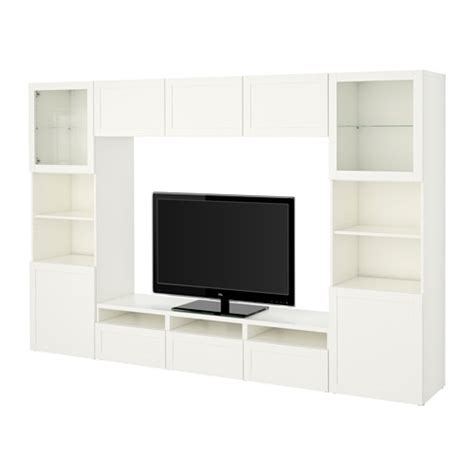 besta combinations best 197 tv storage combination glass doors hanviken