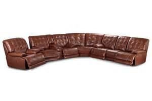 westport leather power reclining sectional
