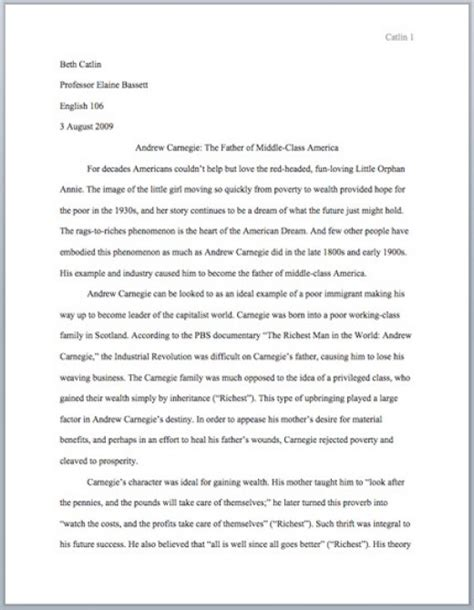 essay format exle mla outlining writing and mla formatting a five paragraph essay