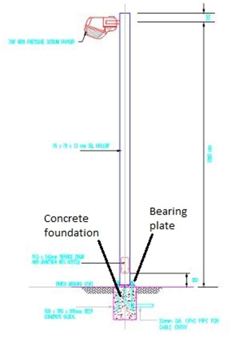 how to install light pole bases electrical installation wiring pictures compound lighting