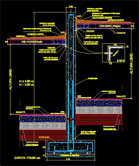 flat slab details dwg detail  autocad designs cad
