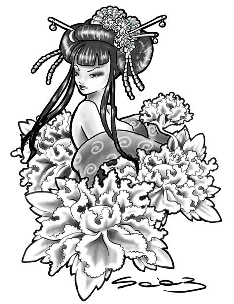 geisha tattoo stencil 50 japanese tattoo designs inspired by culture of japan