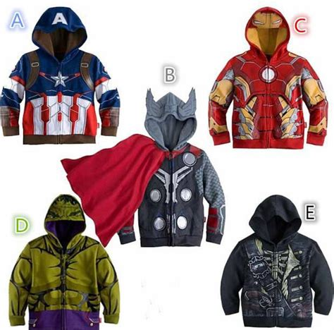 Hoodie Thor Wisata Fashion Shop 3 children hoodies baby boys captain america hoodies jacket thor iron