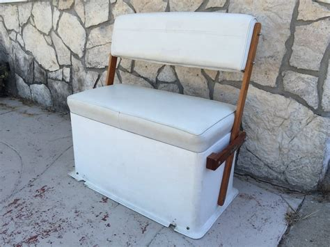 used cooler boat seats todd swingback seat mahogany arms cooler bloodydecks