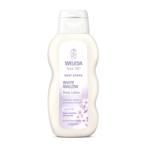 weleda baby derma white mallow lotion 200ml hq hair