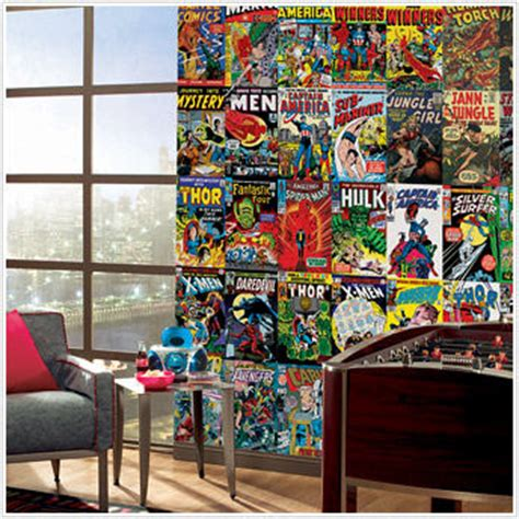 marvel wall mural marvel comic book xl wall mural 9 x 15 wall decor store dreaming of the home