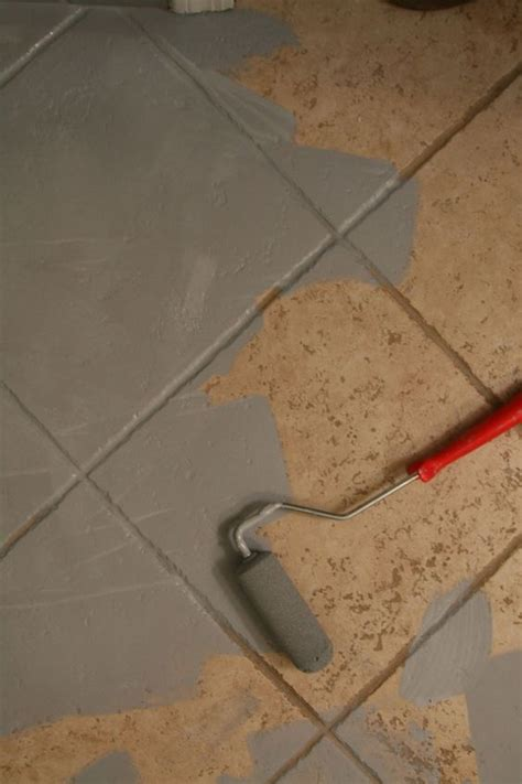 painting old tile in bathroom the 25 best ideas about painting tile floors on pinterest