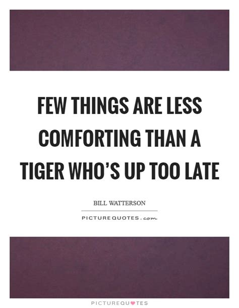 things that are comforting few things are less comforting than a tiger who s up too