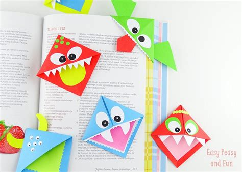 Origami Bookmarks - 20 and easy origami for easy peasy and