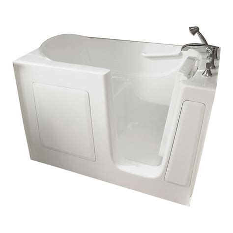 american standard walk in bathtubs shop american standard 60 in l x 30 in w x 38 in h white