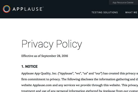 generic privacy policy template privacy policy template generator free 2018