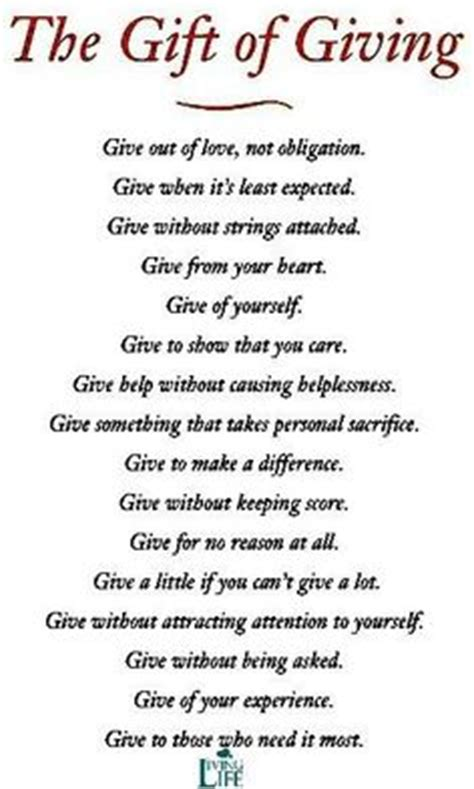 giving gifts for charity inspirational quotes about giving back quotesgram