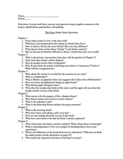 themes in literature answer key 17 best images about 7th ela the giver on pinterest