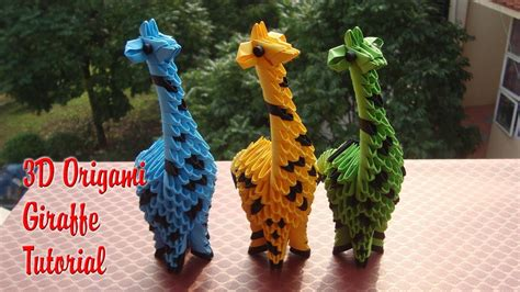 3d Origami Giraffe - how to make 3d origami giraffe diy paper giraffe