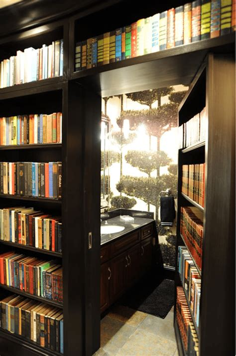 secret bathroom 15 secret doors disguised as bookshelves that you can add
