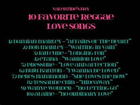 Top 10 Reggae Love Songs   Style & Vibes